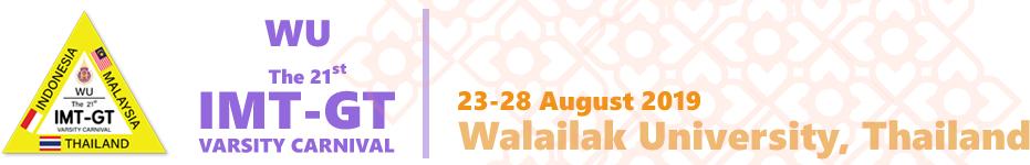 The 21st IMT-GT Varsity Carnival WU     Walailak University Logo